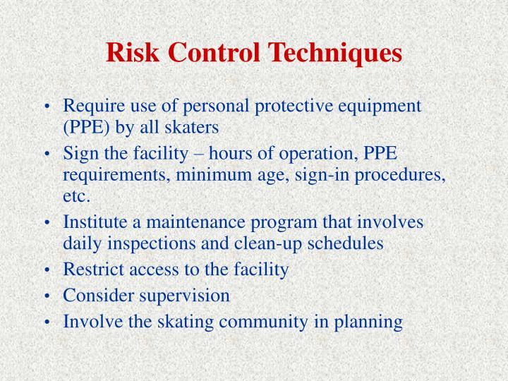 Risk Control Techniques
