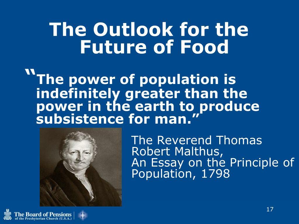The Outlook for the Future of Food