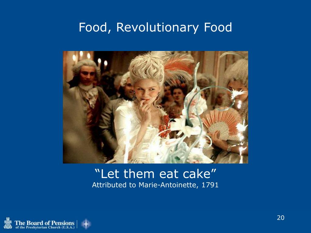 Food, Revolutionary Food