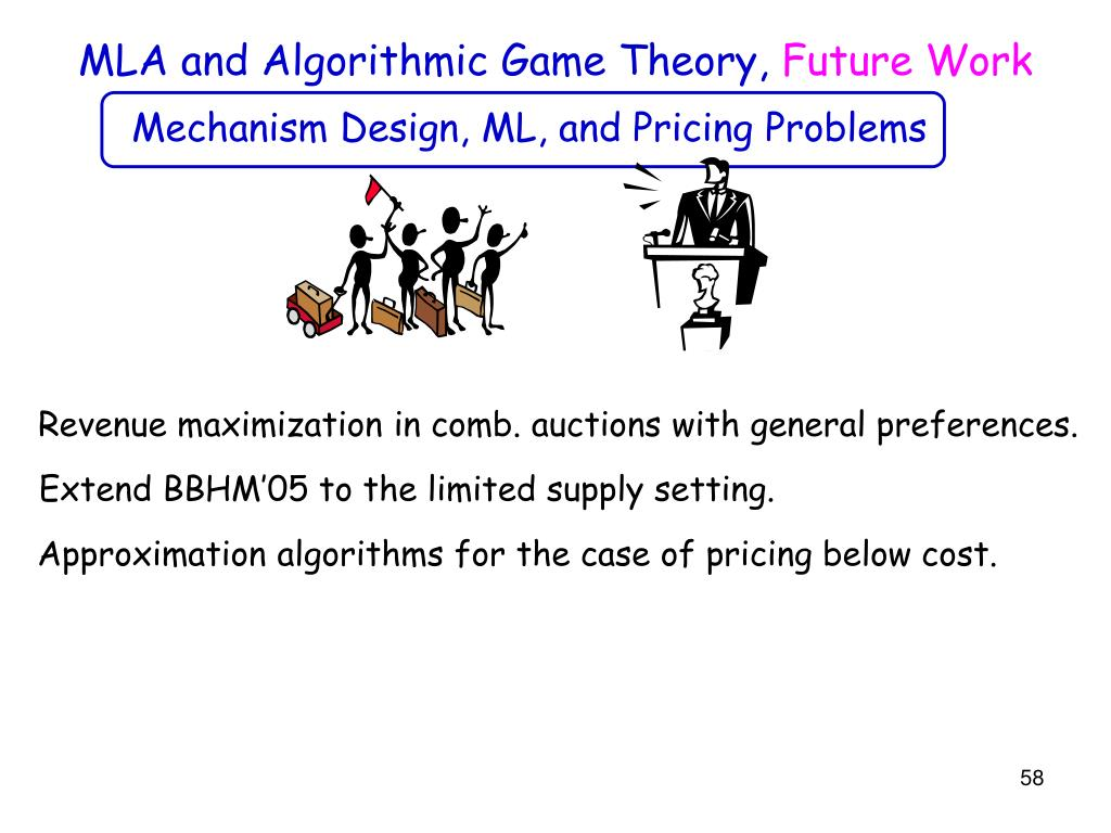 MLA and Algorithmic Game Theory,