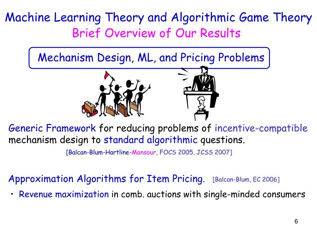 Machine Learning Theory and Algorithmic Game Theory