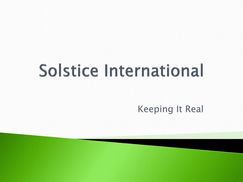 solstice international