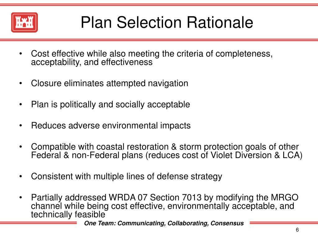 Plan Selection Rationale