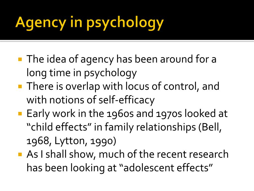 Agency in psychology