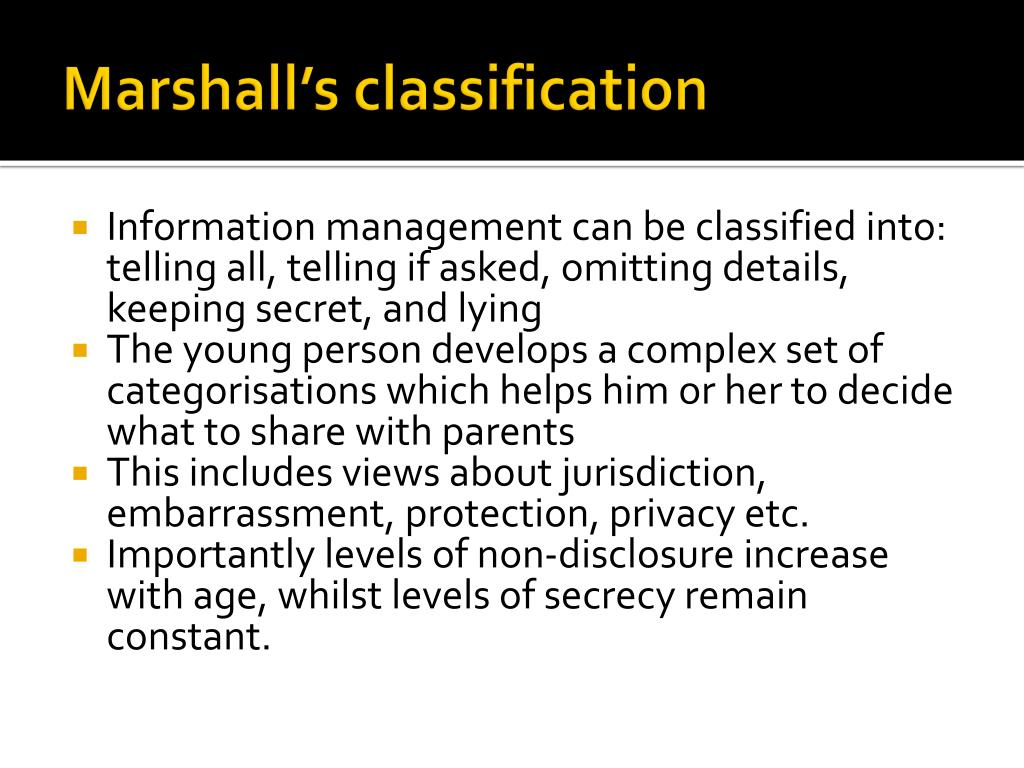 Marshall's classification