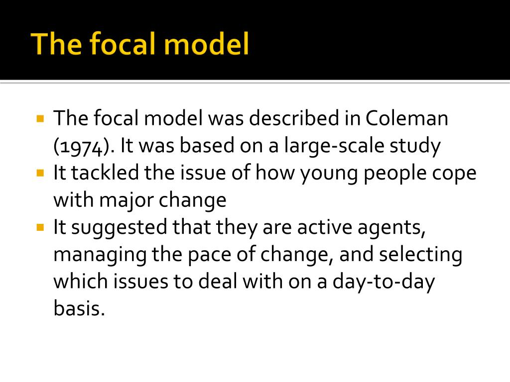 The focal model