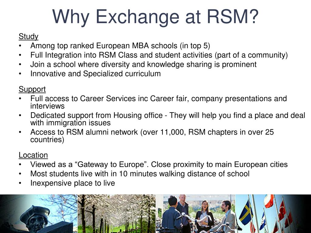 Why Exchange at RSM?