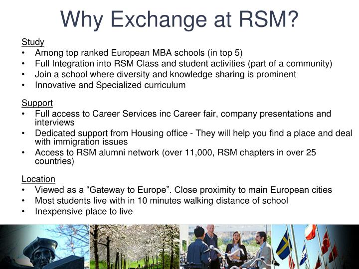 Why exchange at rsm