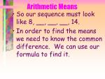 arithmetic means29