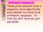 arithmetic sequences6