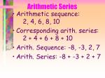 arithmetic series40