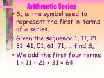 arithmetic series41
