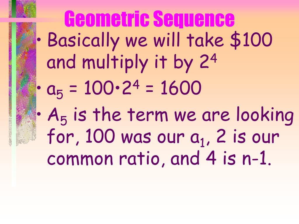 Geometric Sequence
