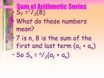 sum of arithmetic series46