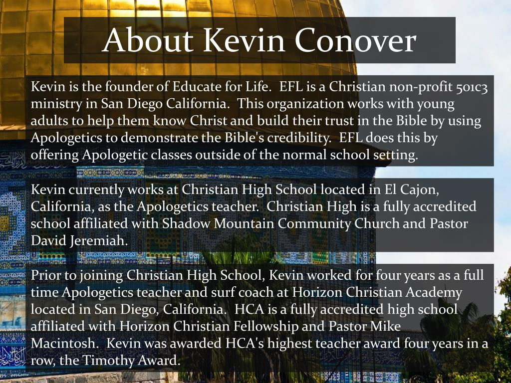 About Kevin Conover