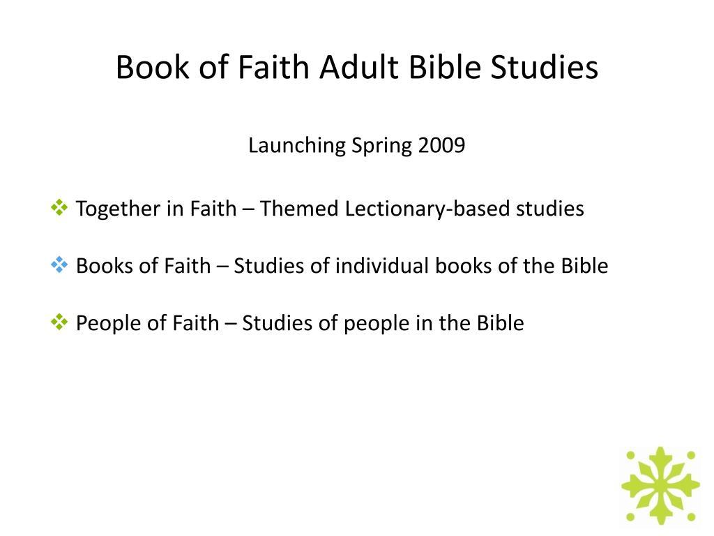 Book of Faith Adult Bible Studies