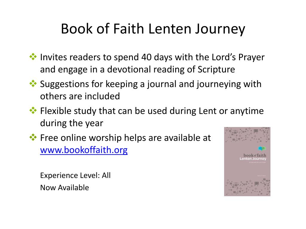 Book of Faith Lenten Journey