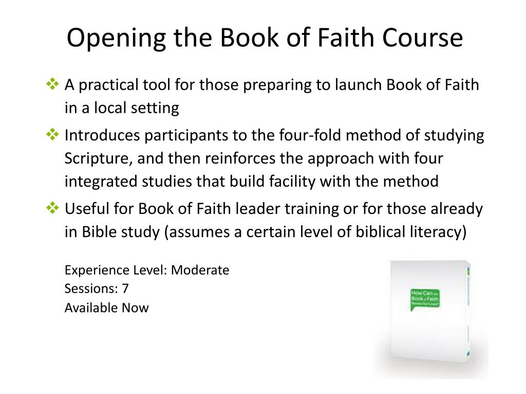 Opening the Book of Faith Course