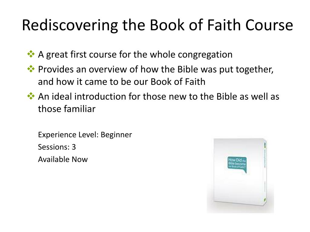 Rediscovering the Book of Faith Course