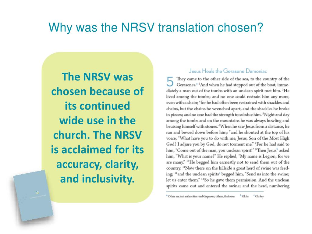 Why was the NRSV translation chosen?