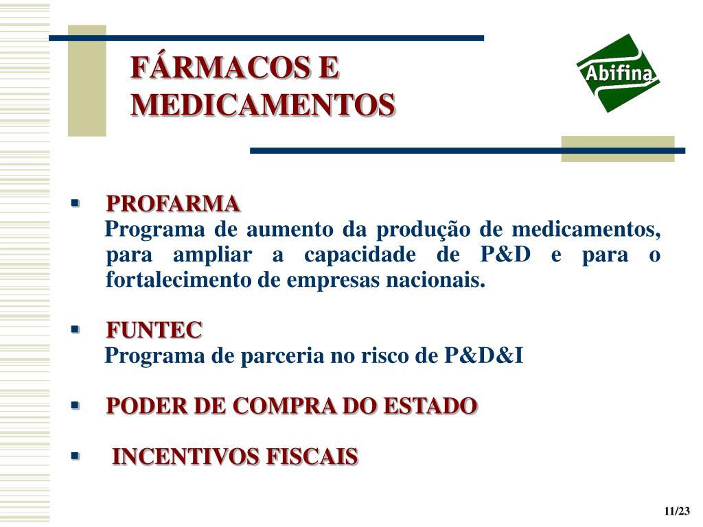 FÁRMACOS E