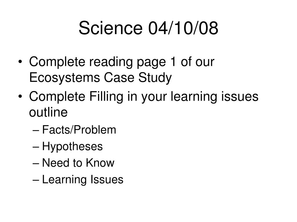 Science 04/10/08