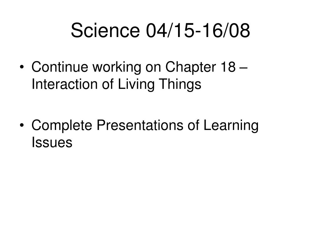 Science 04/15-16/08