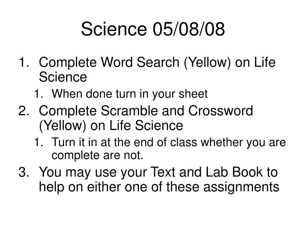 Science 05/08/08