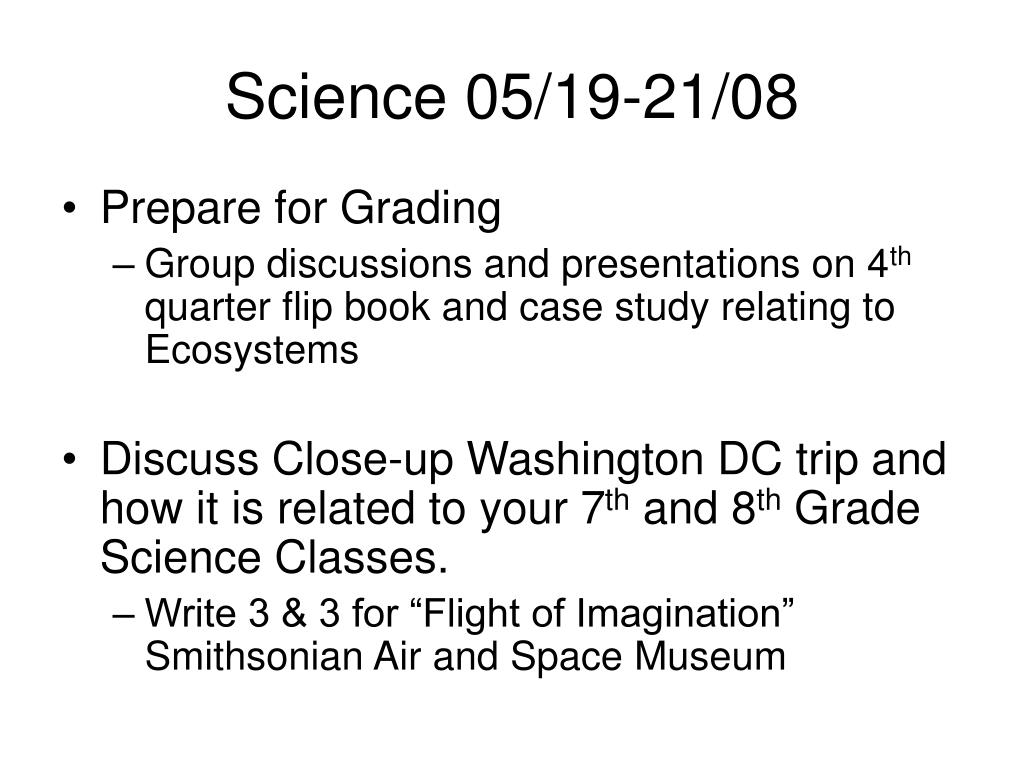Science 05/19-21/08