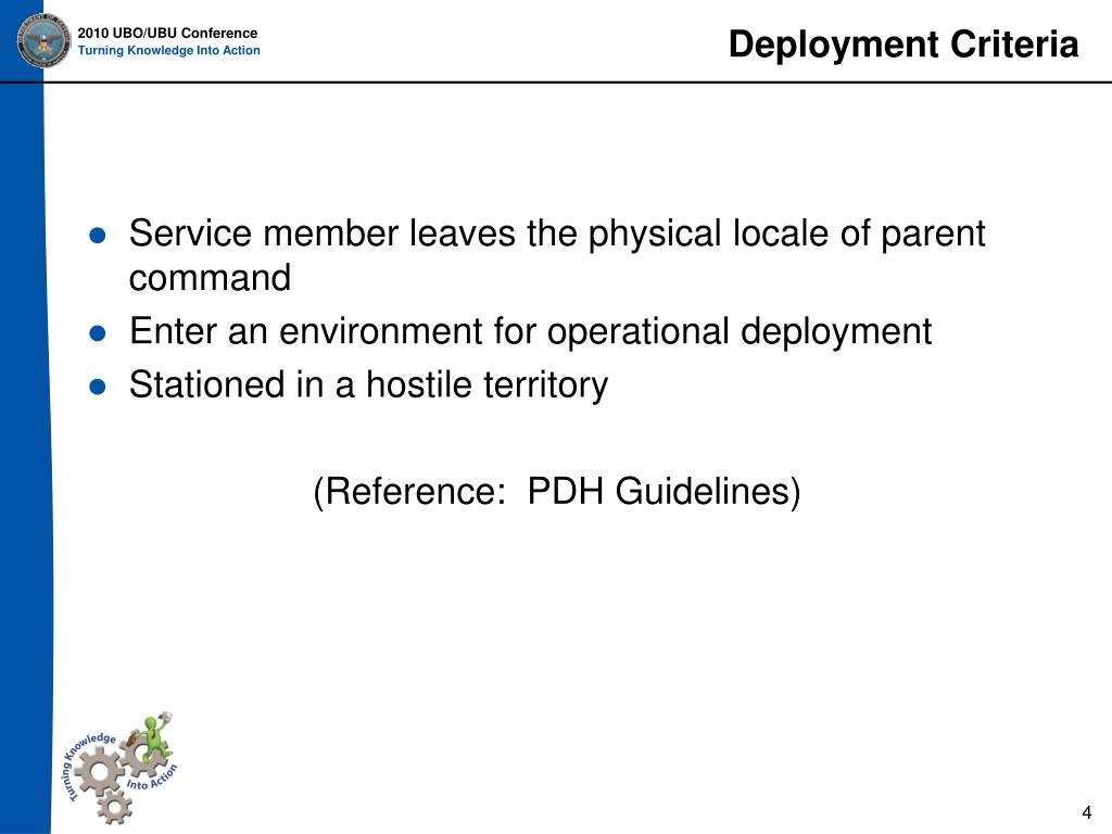 Deployment Criteria