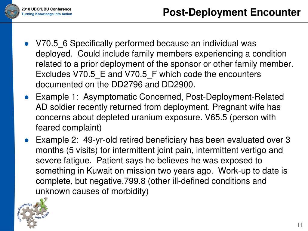 Post-Deployment Encounter