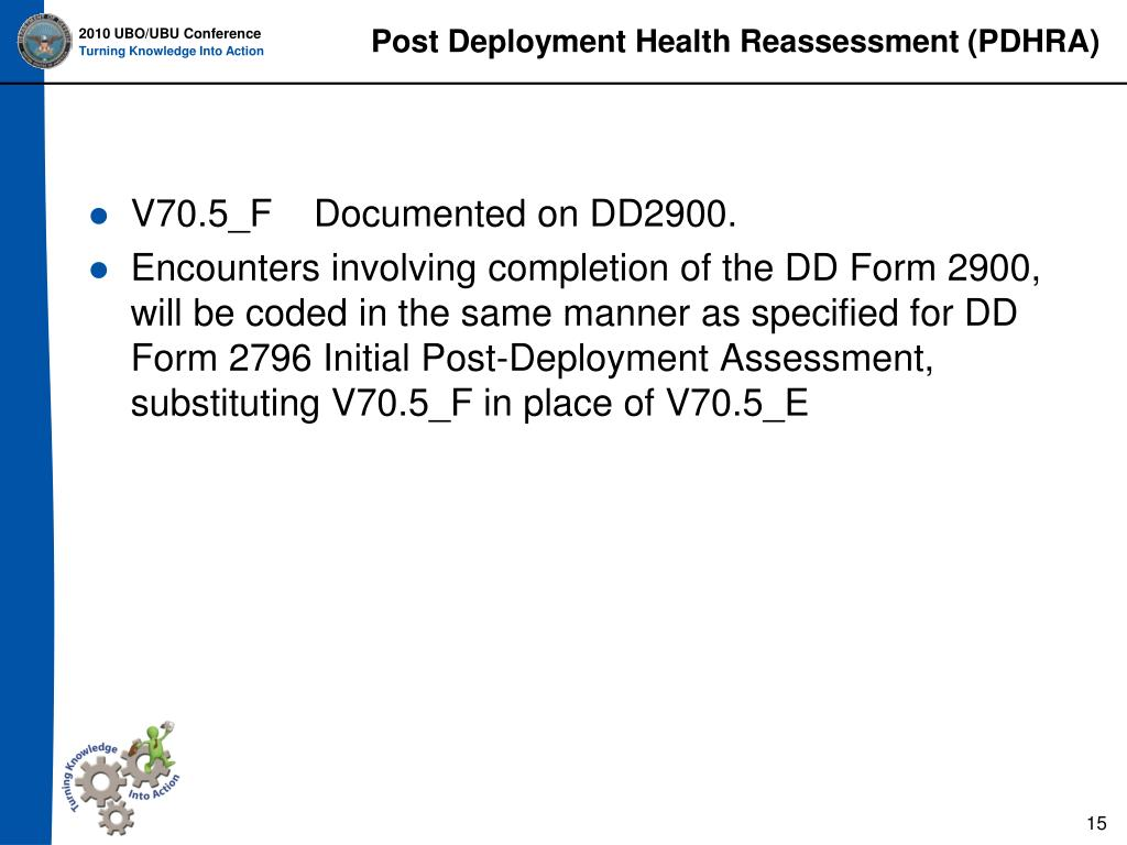 Post Deployment Health Reassessment (PDHRA)