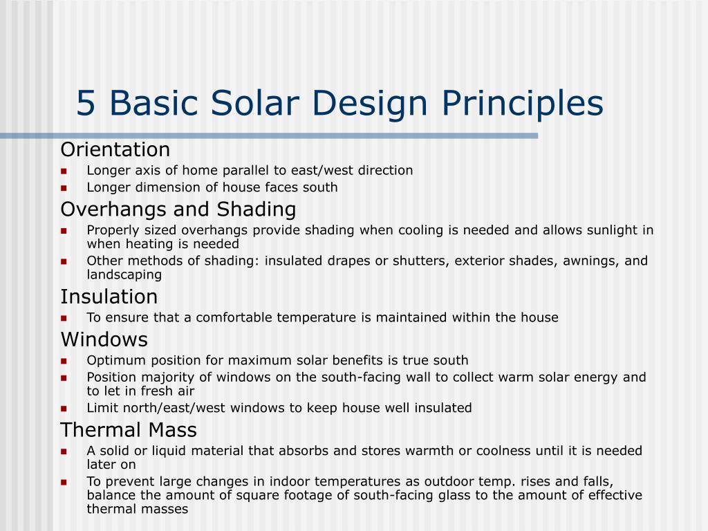 5 Basic Solar Design Principles