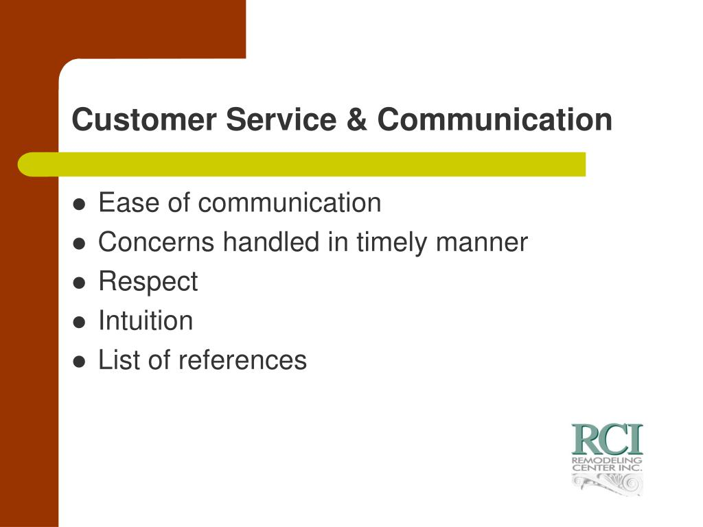 Customer Service & Communication