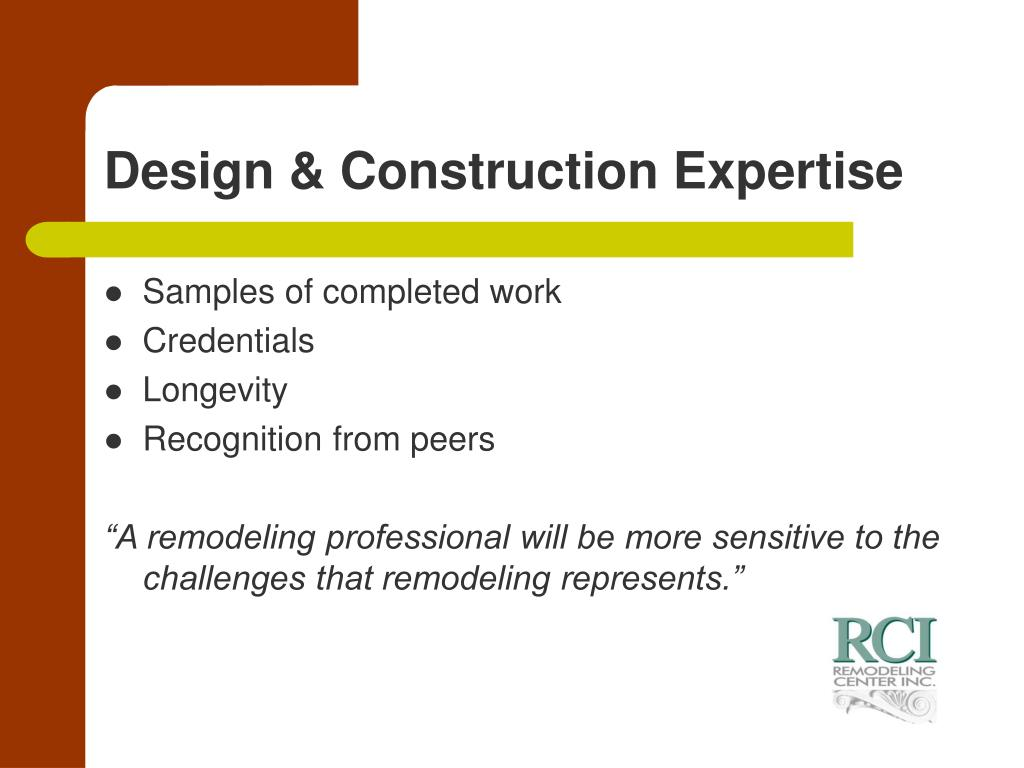 Design & Construction Expertise