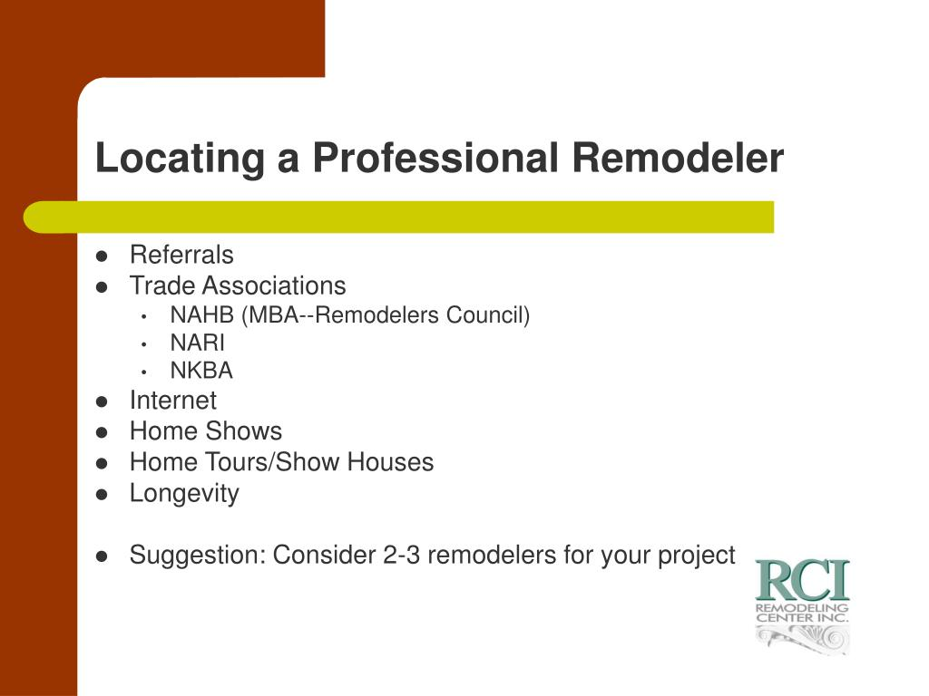 Locating a Professional Remodeler