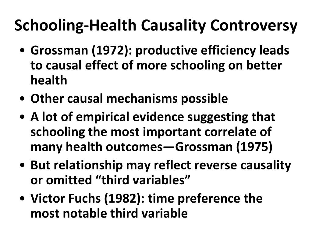 Schooling-Health Causality Controversy