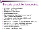 efectele exerci iilor terapeutice