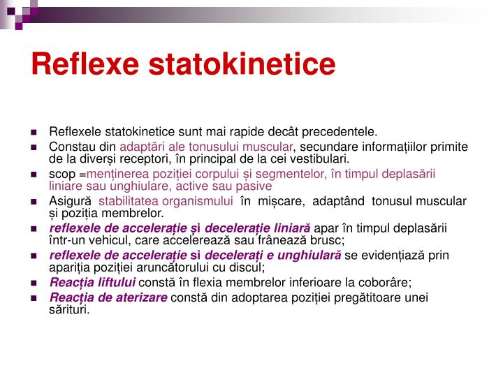 Reflexe statokinetice
