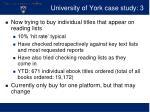 university of york case study 3