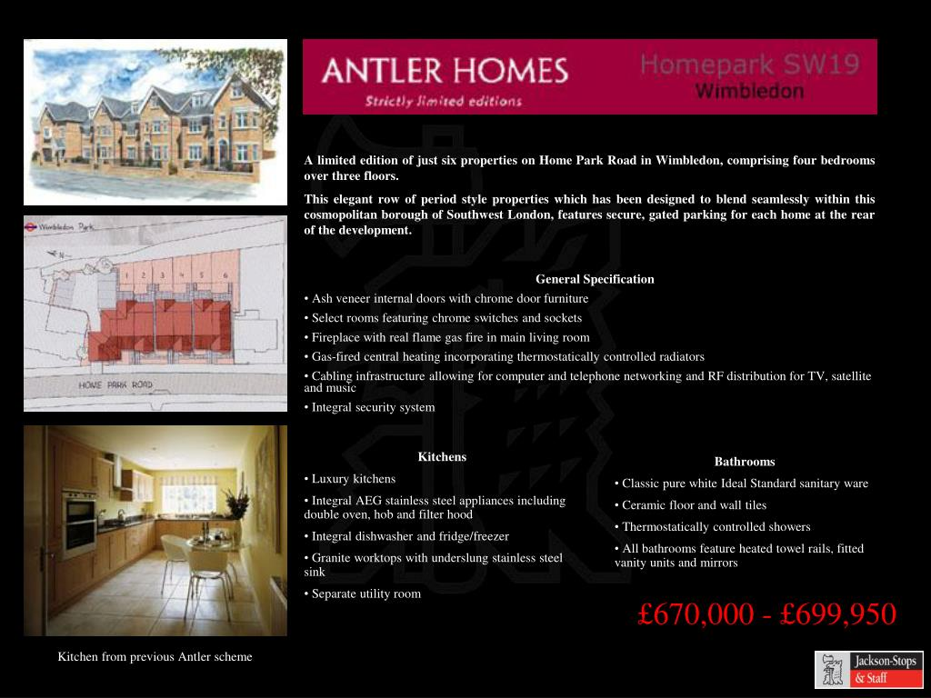A limited edition of just six properties on Home Park Road in Wimbledon, comprising four bedrooms over three floors.