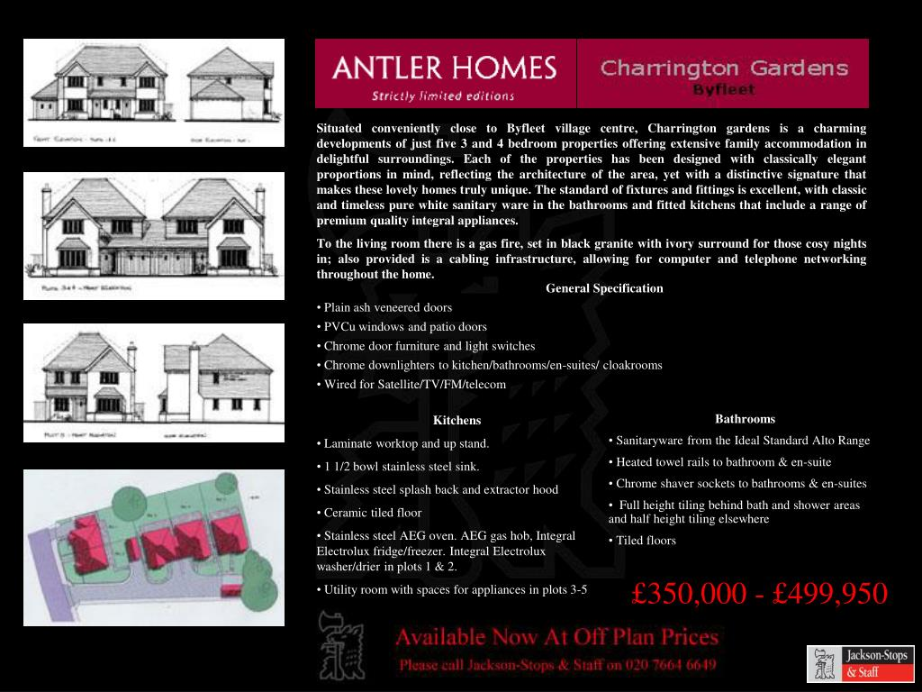 Situated conveniently close to Byfleet village centre, Charrington gardens is a charming developments of just five 3 and 4 bedroom properties offering extensive family accommodation in delightful surroundings. Each of the properties has been designed with classically elegant proportions in mind, reflecting the architecture of the area, yet with a distinctive signature that makes these lovely homes truly unique. The standard of fixtures and fittings is excellent, with classic and timeless pure white sanitary ware in the bathrooms and fitted kitchens that include a range of premium quality integral appliances.