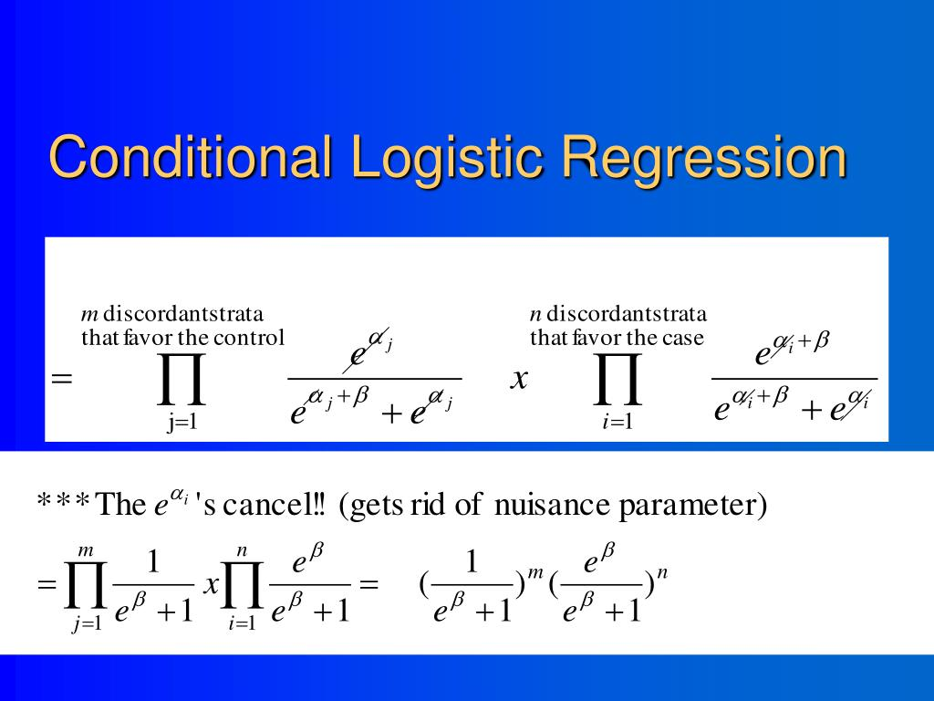 Conditional Logistic Regression