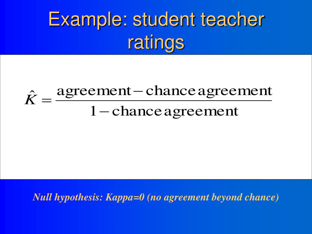 Example: student teacher ratings
