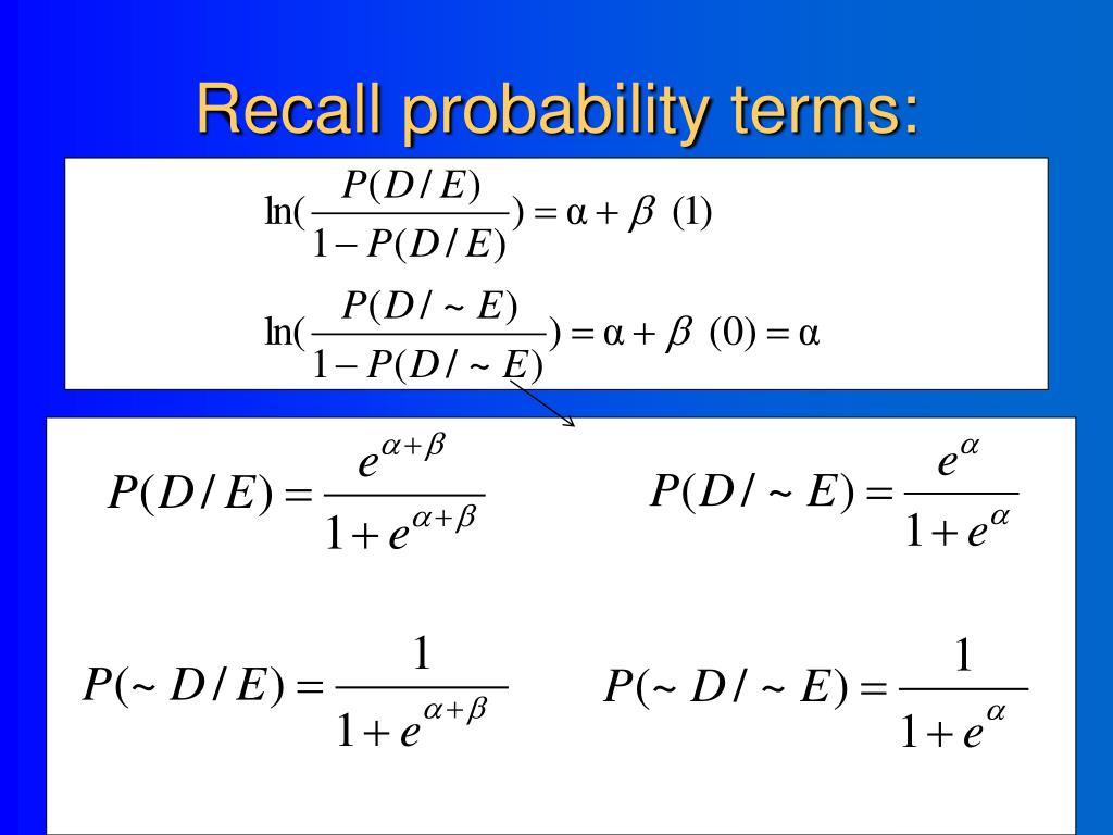 Recall probability terms:
