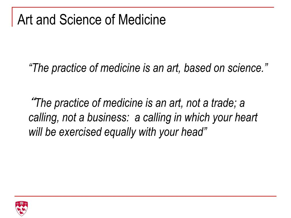 Art and Science of Medicine