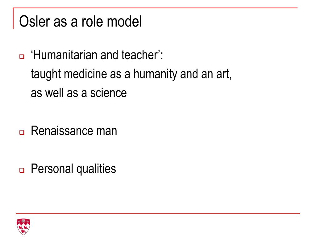Osler as a role model