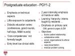 postgraduate education pgy1 2
