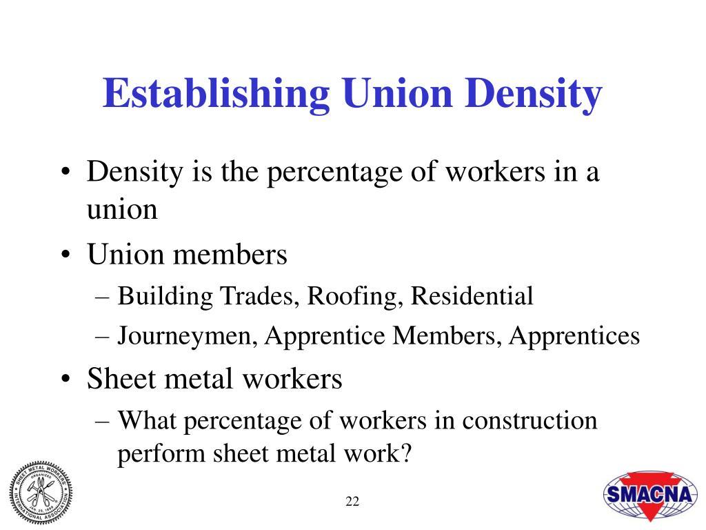 Establishing Union Density