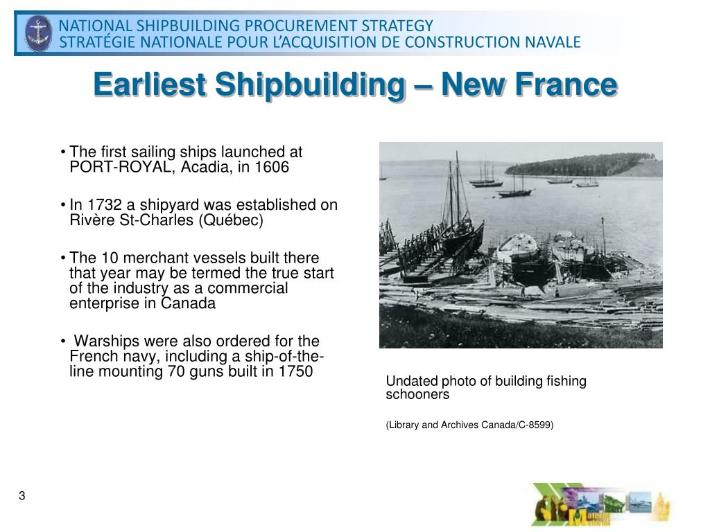 Earliest Shipbuilding – New France